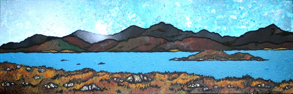 Scottish painting and prints of East Bee Loch, South Uist, Hebrides, Scotland
